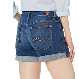 7 Seven for All Mankind denim jean shorts. 28.